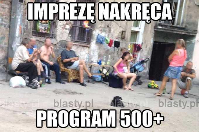 Imprezę nakręca program 500plus