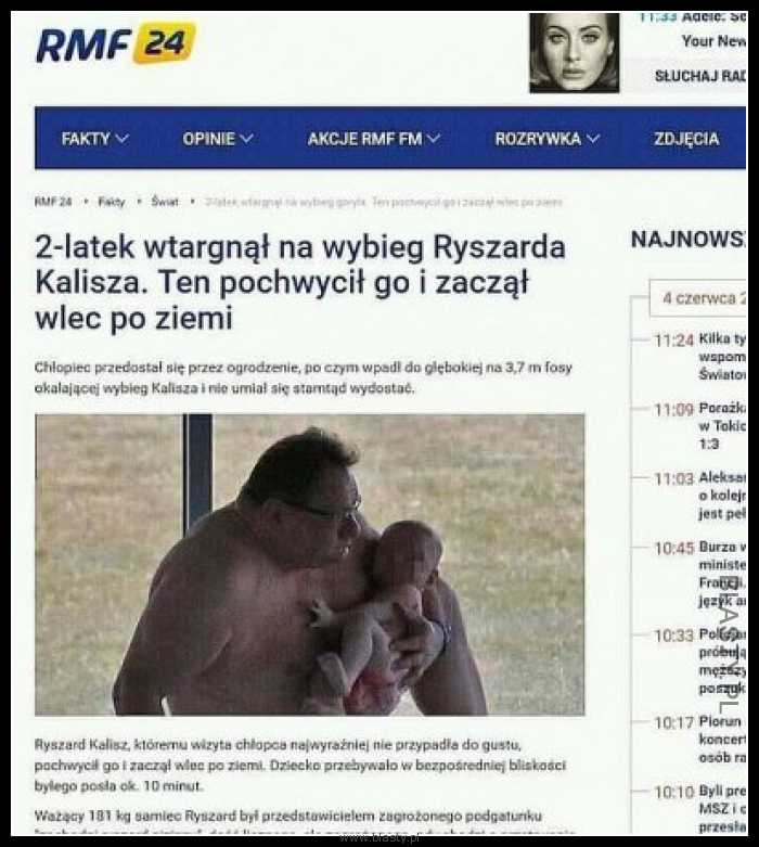 2 latek wtargnął na wybieg Ryszarda Kalisza