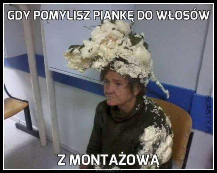 kobieta z pianką na włosach śmieszne memy.