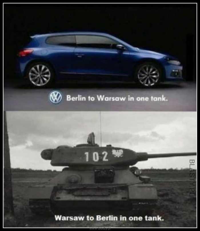 Z Berlina do Warszawy na jednym tankowaniu