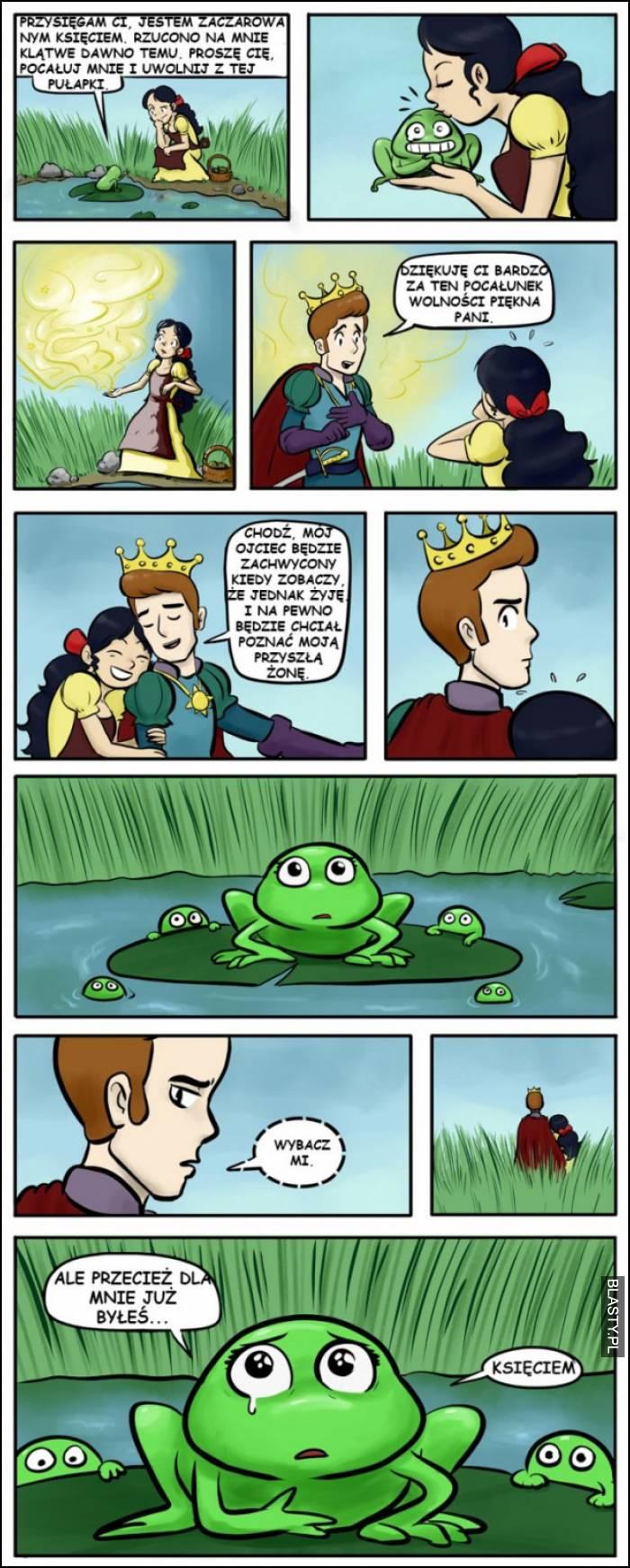 pocałuj żabę a zamieni sie w księcia