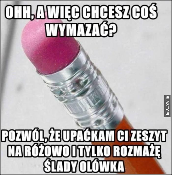 gumka w ołówku