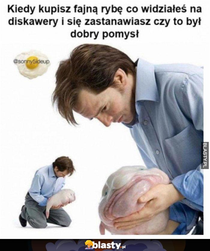 Kiedy kupisz fajną rybę co widziałeś na diskawery