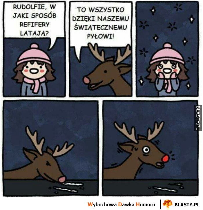 Rudolfie, w jaki sposób renifery latają?...