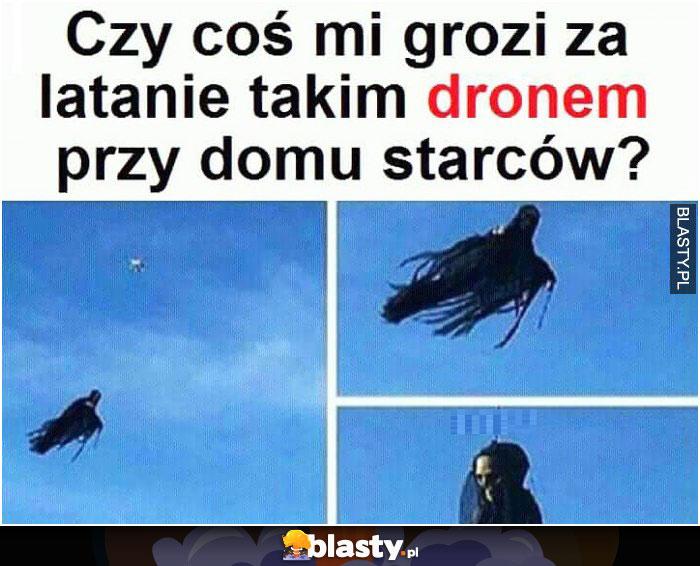 Czy coś mi grozi za latanie takim dronem?