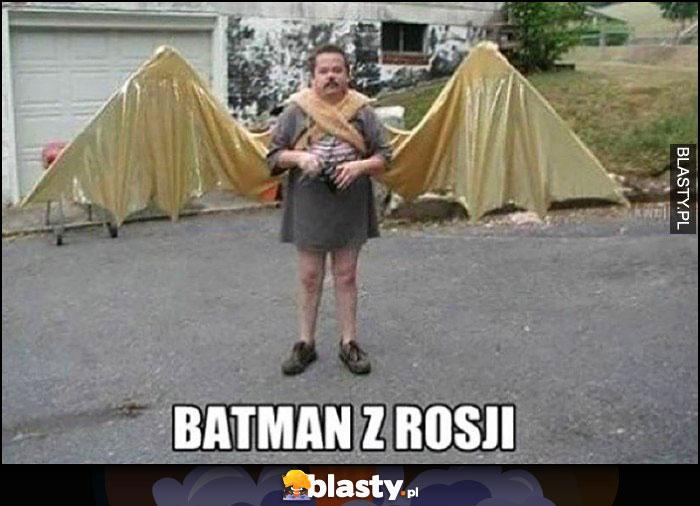 Batman z Rosji doczepiane skrzydła