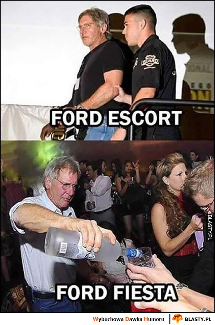 Ford Escort vs Ford Fiesta Harrison Ford