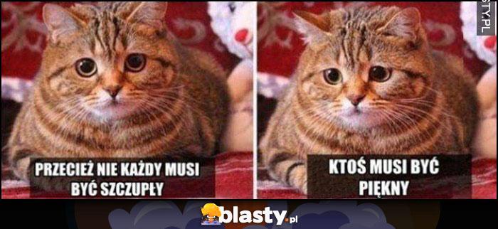 Kot przecież nie każdy musi być szczupły, ktoś musi być piękny