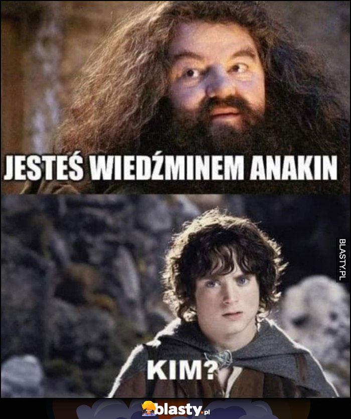 Hagrid: jesteś wiedźminem Anakin. Frodo: kim?