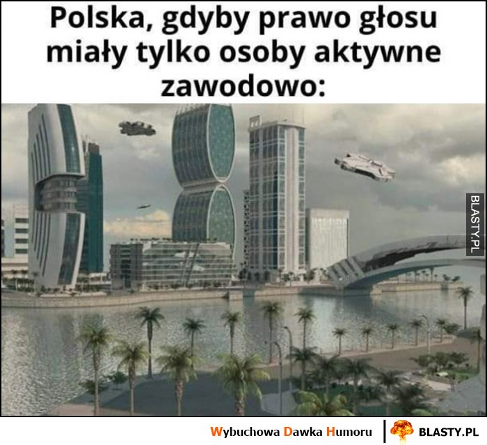 Polska, gdyby prawo głosu miały tylko osoby aktywne zawodowo przyszłość