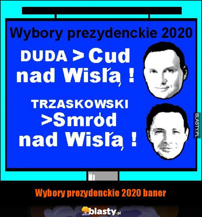 Wybory prezydenckie 2020 baner