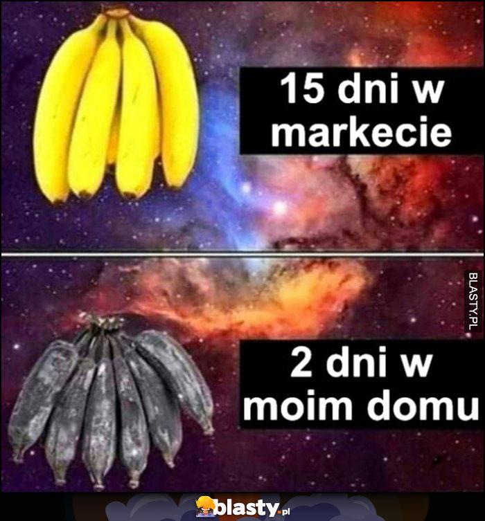 Banany: 15 dni w markecie jak nowe, 2 dni w moim domu całe czarne