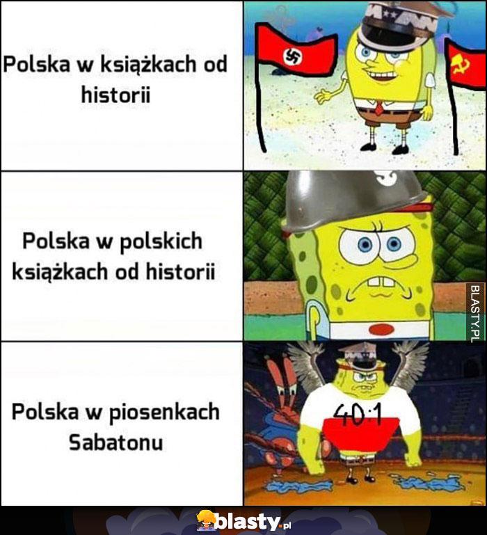 Spongebob: Polska w książkach od historii, Polska w polskich ksiązkach od historii, Polska w piosenkach Sabatonu