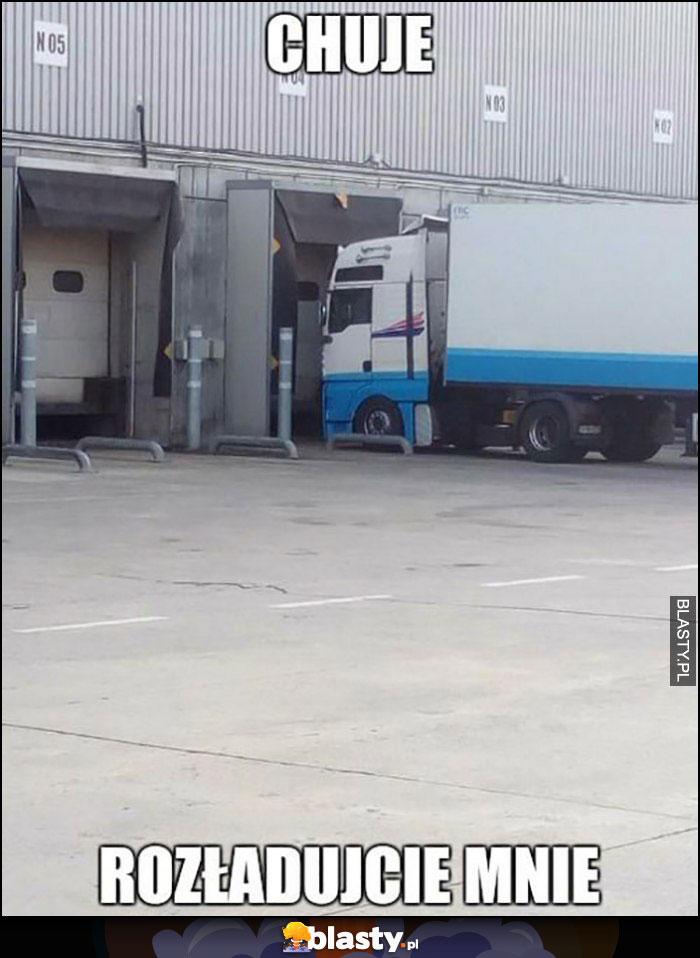 TIR ciężarówka chamy rozładujcie mnie