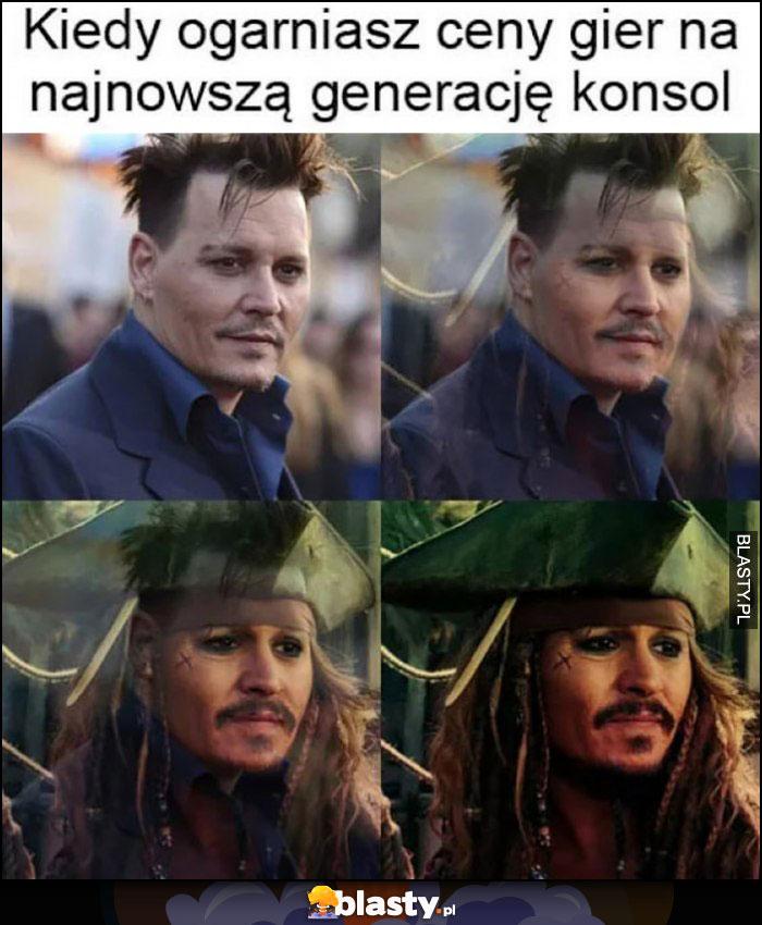 Johnny Depp kiedy ogarniasz ceny gier na najnowszą generację konsol Jack Sparrow piraci z karaibów