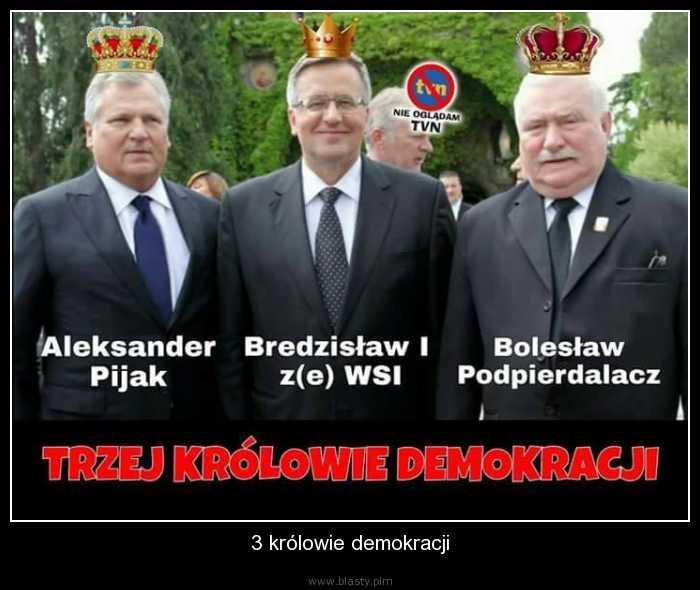 3 królowie demokracji memy, gify i śmieszne obrazki facebook, tapety,  demotywatory zdjęcia