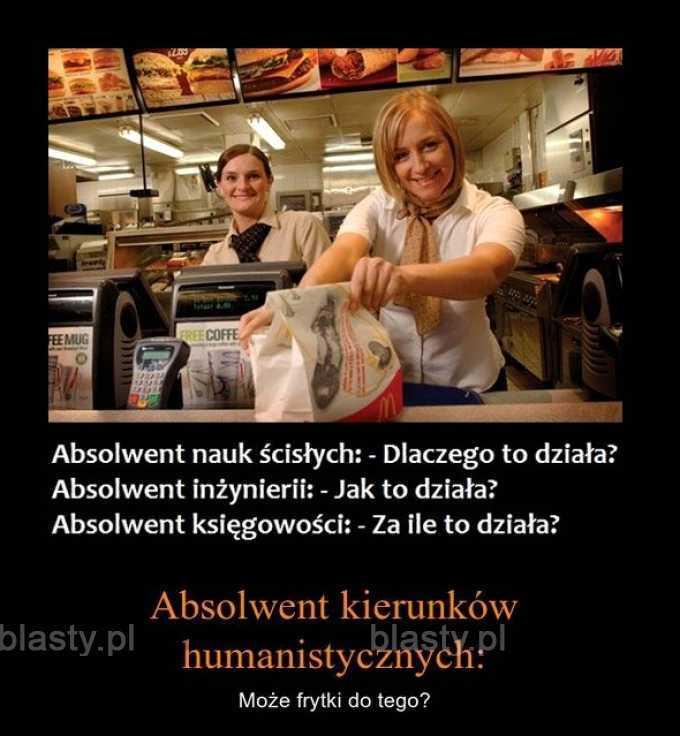 A po studiach... - Polska rzeczywistość.