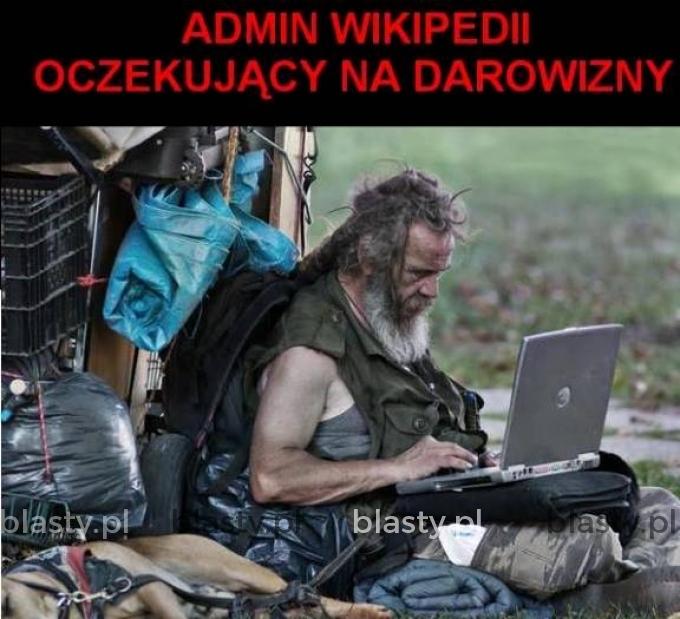 Admin Wikipedi oczekujący na darowizny
