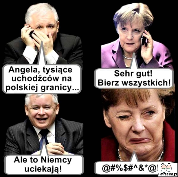 Angela tysiąc uchodźców na polskiej granicy