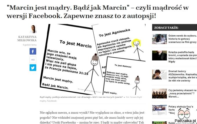 Bądź mądry jak Marcin - czyli mądry Polak przed stratą :)