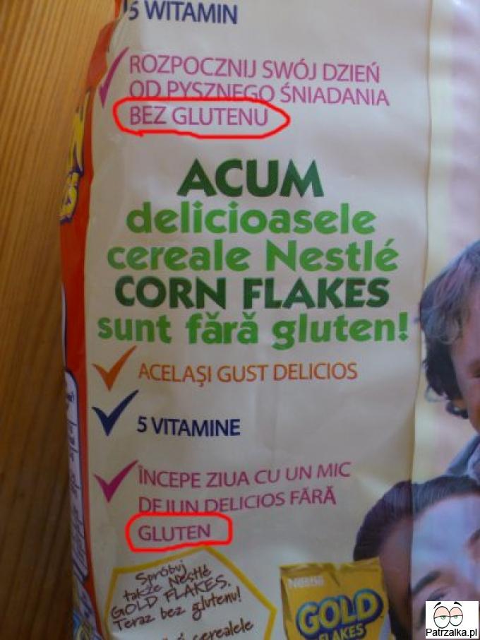 Bez glutentu - z glutenem - zdrowo kupuj