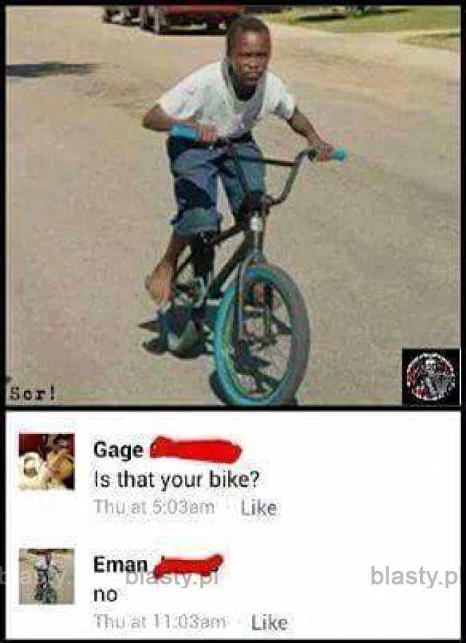 Czy to Twój rower?
