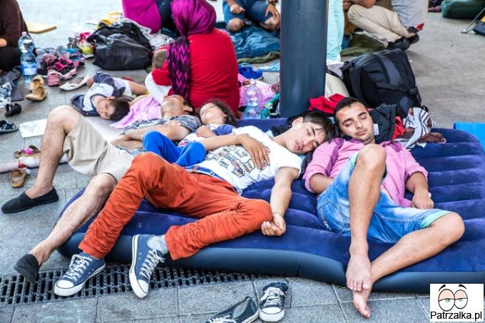 Dobre ziomki imigranty odpoczywają zmęczeni pracą