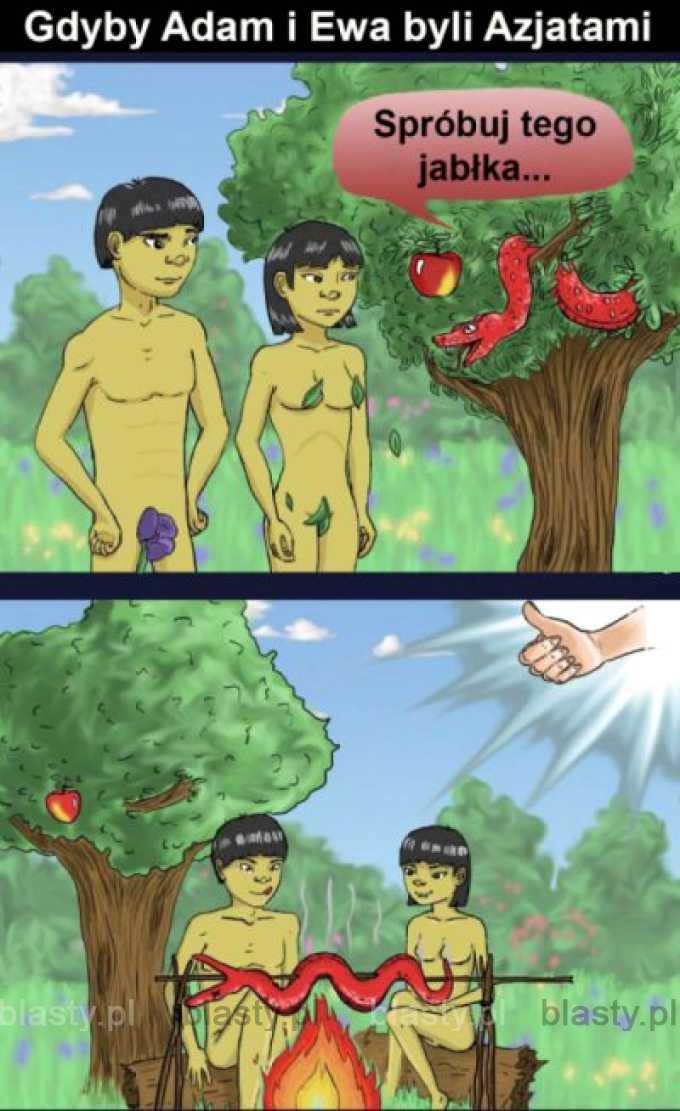 Gdyby Adam i Eva byli azjatami