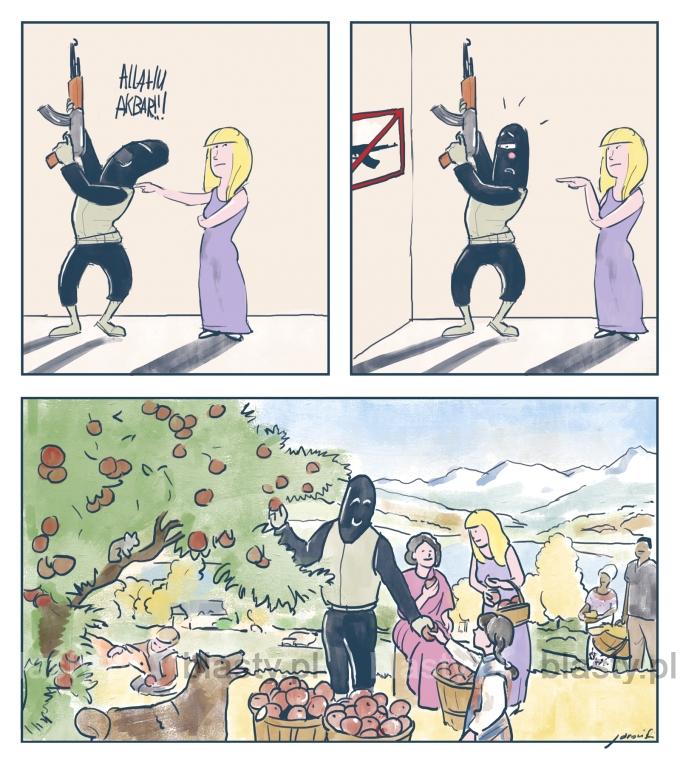 Gdyby na lotnisku nie można było używać broni może nie byłoby zamachu w brukseli
