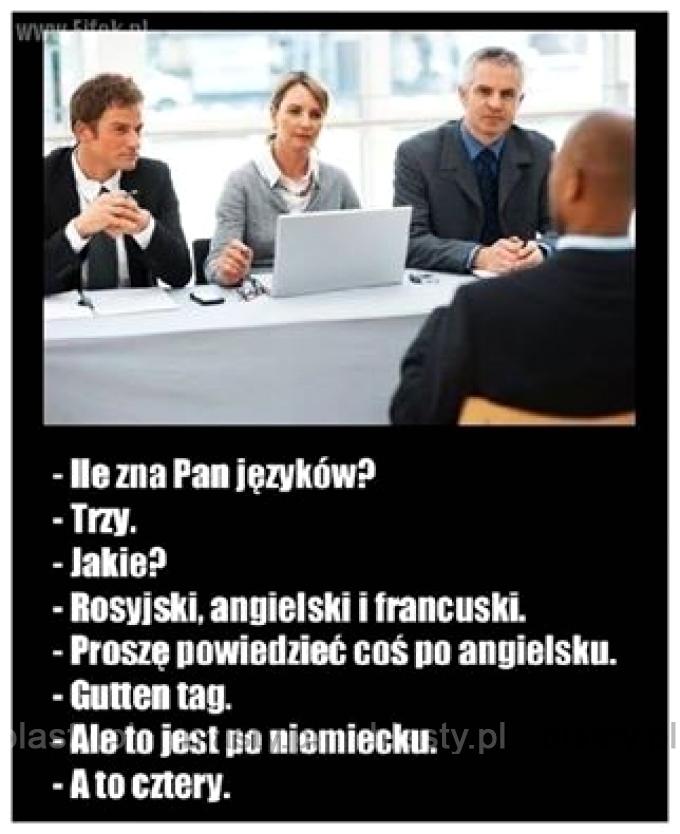 Ile zna Pan języków