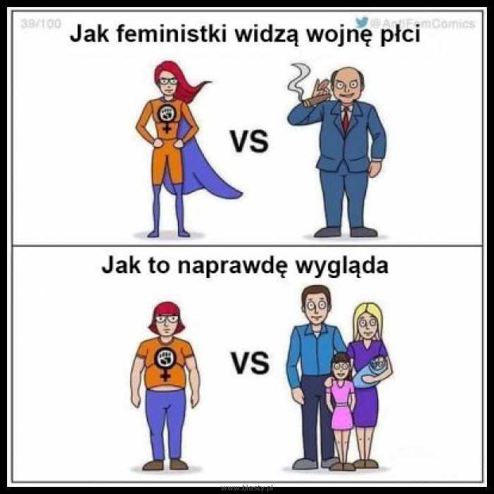Jak feministki widzą wojnę płci
