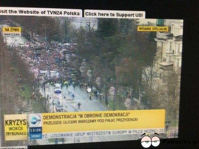 Kamery z góry pokazaly prawdziwe oblicze demonstracji KOD :)