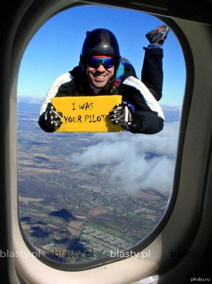 Kiedy pilotowi zachciało się śmieszkować