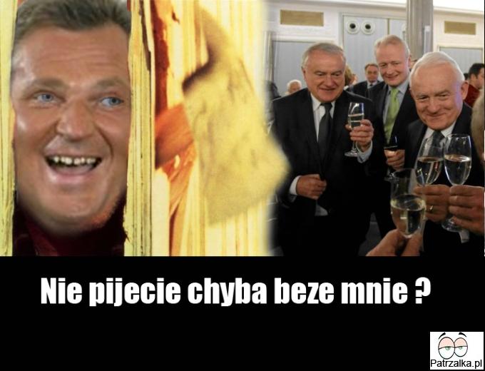 Kwaśniewski wbija na imprezę