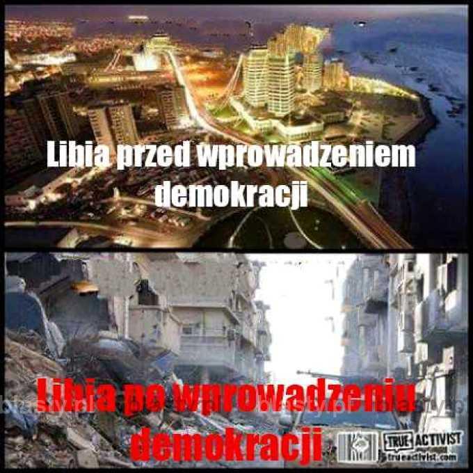 Libia przed wprowadzeniem demokracji vs po wprowadzeniu demokracji