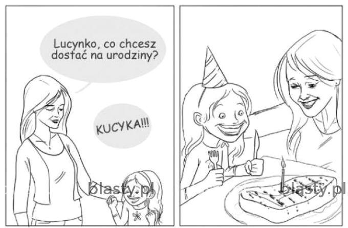 Lucynko co chcesz dostać na urodziny ?