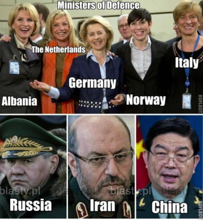 Ministrowie obrony narodowej Albania, Holandia, Norwegia, Włochy