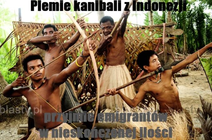 Plemie kanibali z indonezji przyjmie emigrantów