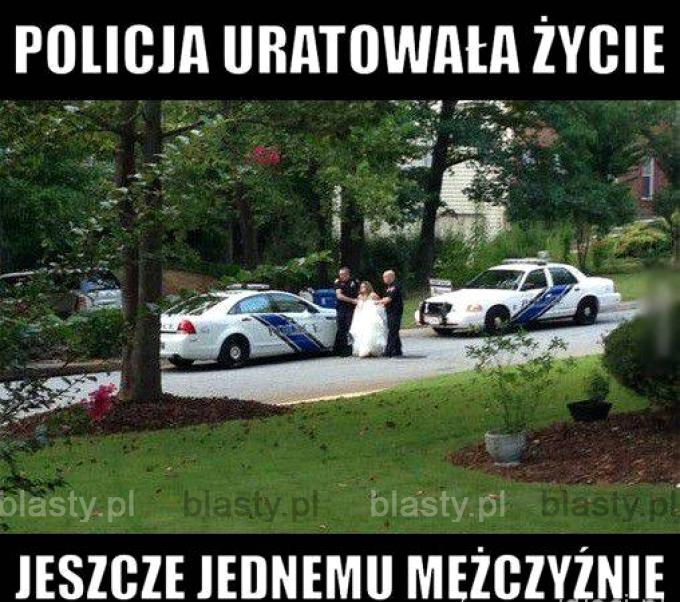 Policja, na czas na ratunek