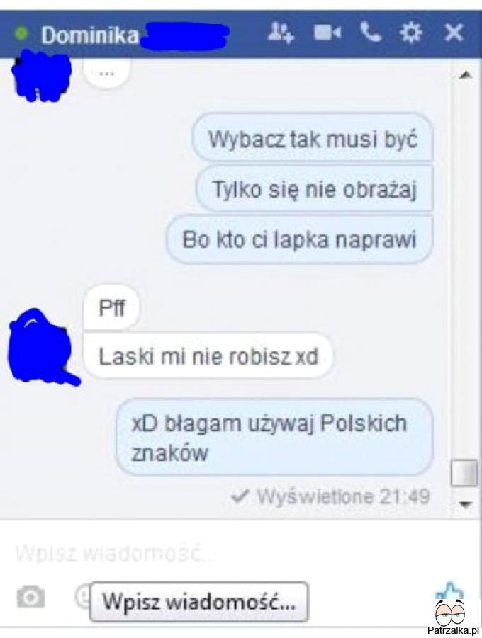 Polskie litery mają znaczenie