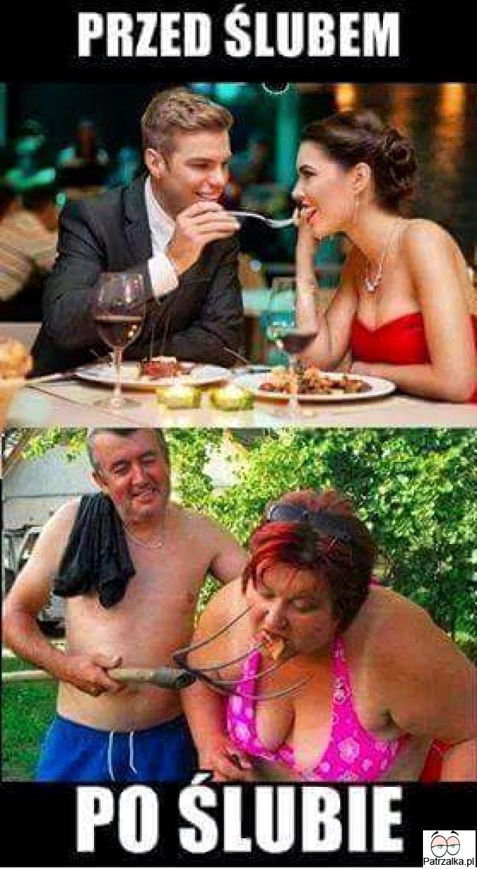 Przed ślubem vs po ślubie