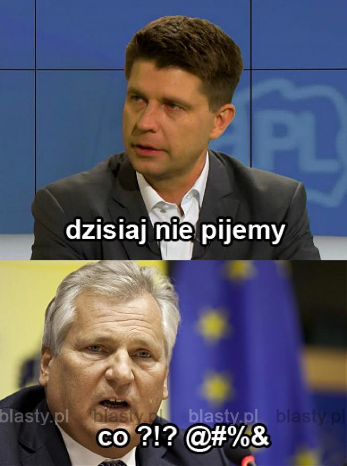 Reakcja Kwaśniewskiego.