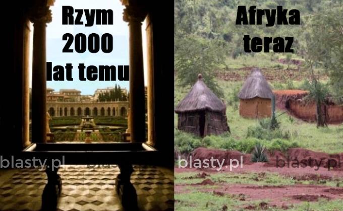 Rzym 2000 lat temu vs afryka teraz