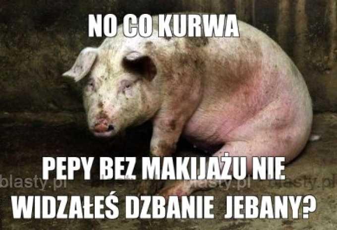 Świnka pepa bez makijażu