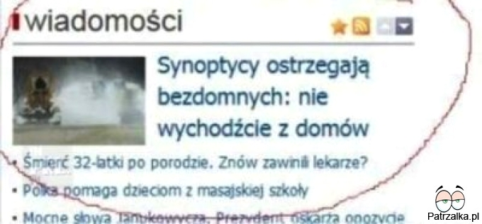 Synoptycy ostrzegaja
