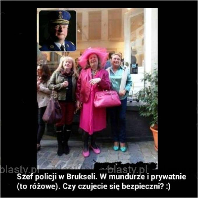 Szef policji w brukseli