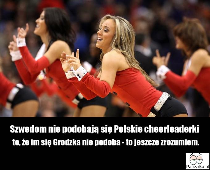 Szwedom nie podobają się Polskie cheerleaderki