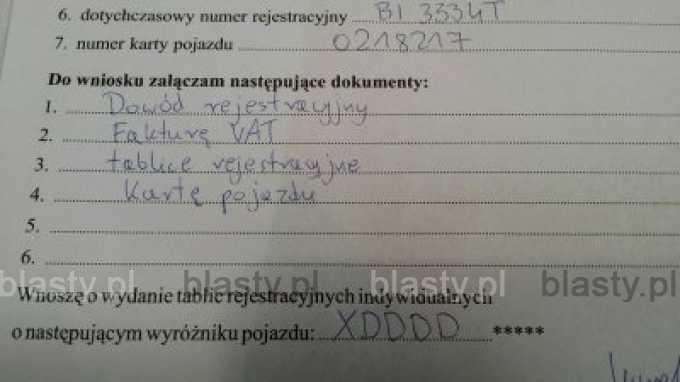 Tablice rejestracyjne