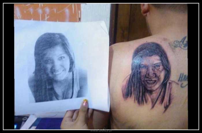 Tatuaż przynajmniej na starość będzie się zgadzać.