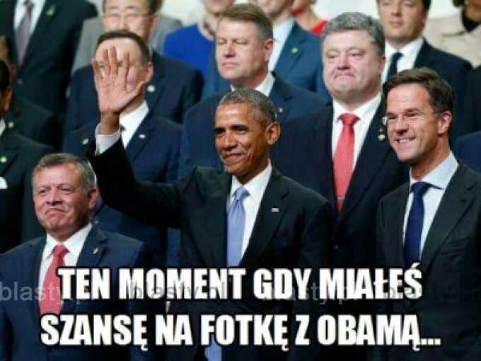 Ten moment kiedy miałeś szanse na fotke z Obamą